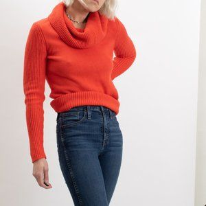 Lauren Ralph Lauren Reddish Orange Cowl Neck